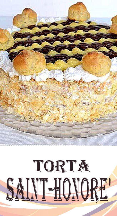 a Torta Saint-Honorè non ha bisogno di presentazioni, è uno dei fiori all'occhiello della pasticceria francese, si tratta di una torta preparata con la pasta sfoglia, farcita con la crema chiboust (crema pasticcera alleggerita da meringa) e decorata in superficie con dei bignè.