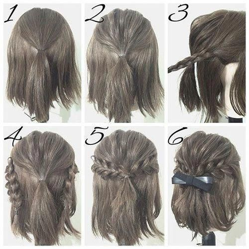 awesome  Easy hairstyles for short hair #Shorthairbun