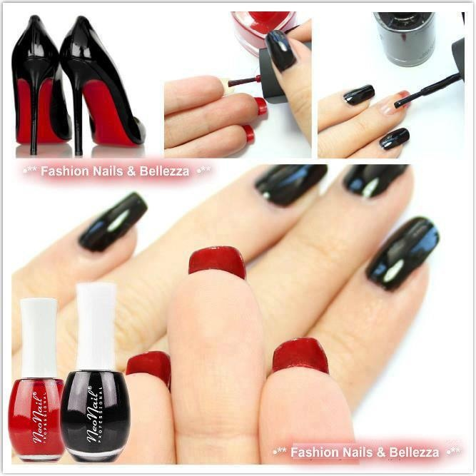 Find us on: www.facebook.com/NeoNailPL red black nails manicure