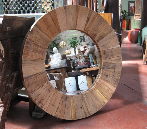 reclaimed wood mirror frame design mix