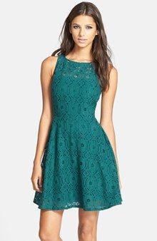 BB Dakota Renley Lace Fit & Flare Dress (Nordstrom Exclusive)