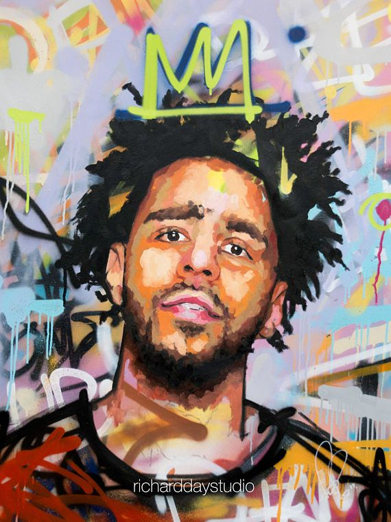 J Cole Original Painting 40 Quot Worldwide Shipping Large