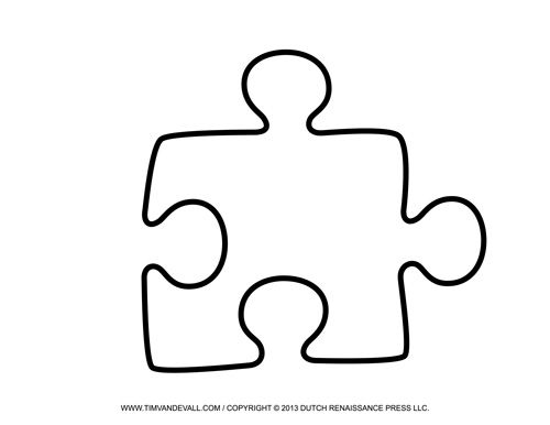 Free printable puzzle piece templates