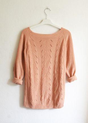 Kup mój przedmiot na #vintedpl http://www.vinted.pl/damska-odziez/swetry-z-dzianiny/9353423-sweterek-lososiowy-w-warkocze-luzny-pastelowy-letni-oversize