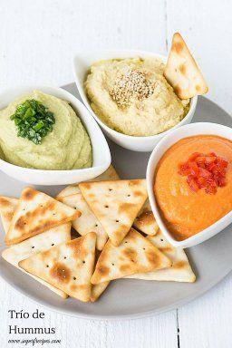 Hummus en 3 versiones