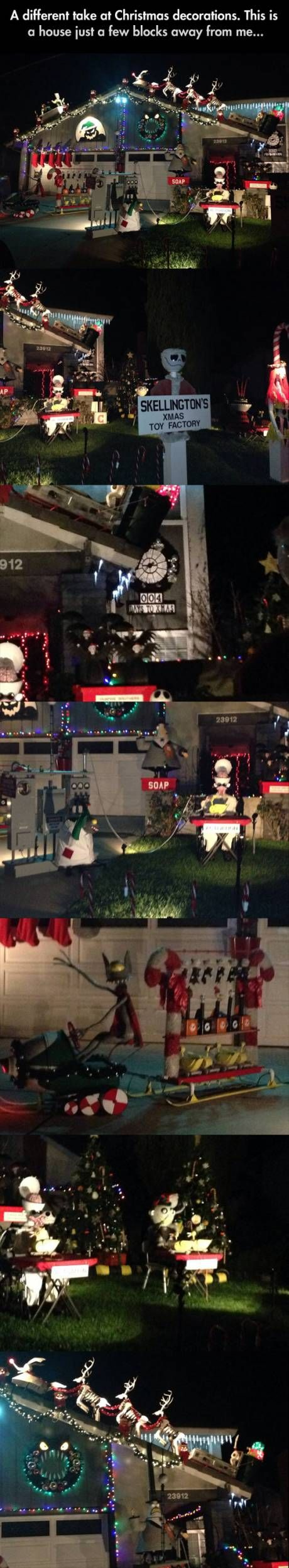 Awesome Nightmare Before Christmas decorations!