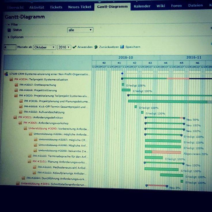Projektplanung mit dem #Ganttdiagramm. - Project planning with the #ganttchart . #gantt #redmine #project #projectmanagement #projektmanagement #pm #planungsphase