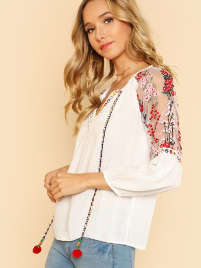 Shop Fold Over Panel Cold Shoulder Blouse Online Shein Offers Fold