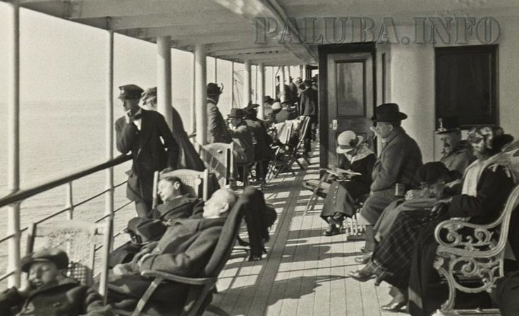 Na palubi broda Baron Gautsch 1908