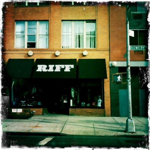 RIFF, a rock clothing store in the old CBGB gallery space that
