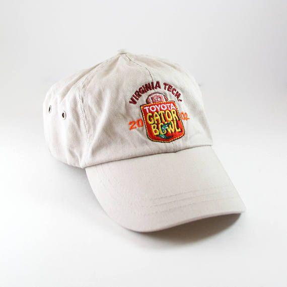 2002 Virginia Tech Hokies Toyota Gator Bowl Hat // Khaki Unstructured Dad Hat