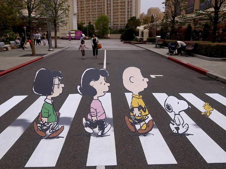 Peanut Abbey Road Snoopy Crosswalk