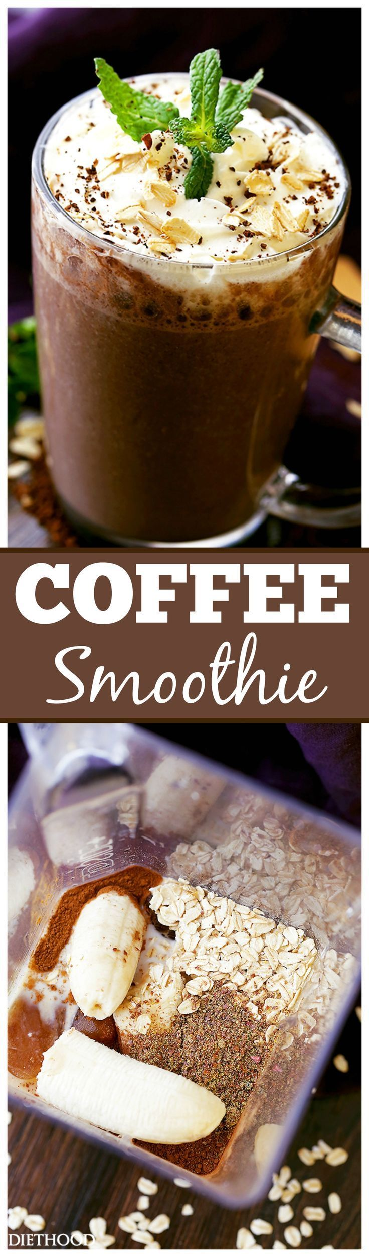 Coffee Smoothie – The perfect way to start your morning with coffee oats flaxseeds and bananas all in one! Combining our two morning loves coffees and smoothies for people on the go.