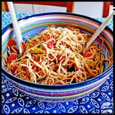 Spaghetti Salad With Cold Sauce