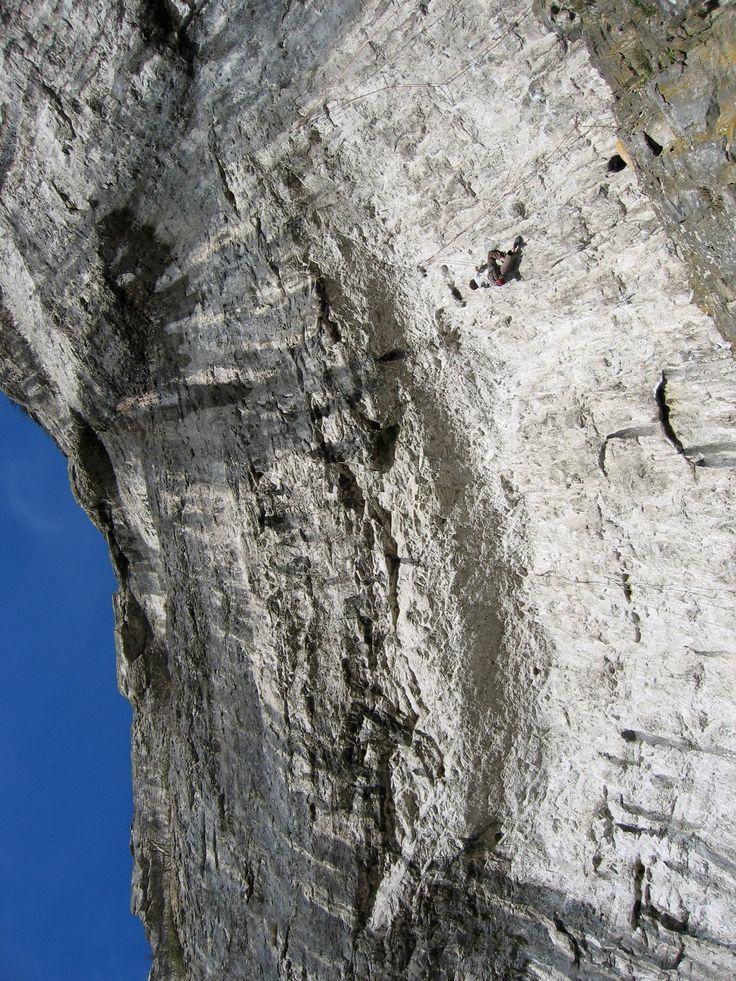 Climbing Malham Cove, North Yorkshire