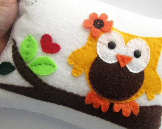 Owl Pillow cute owl pillow decor by Mariapalito on Etsy, $22.00