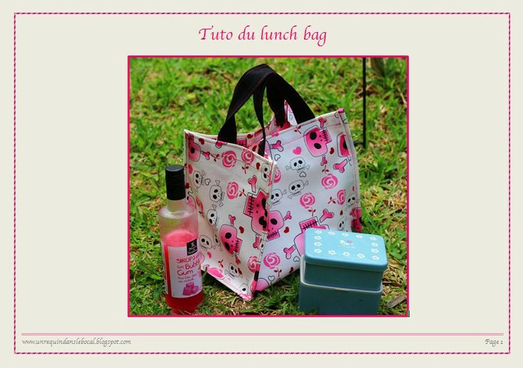 tuto lunch box bag couture gratuit tutoriel patron diy sac pique nique couture pinterest. Black Bedroom Furniture Sets. Home Design Ideas