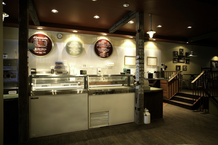 Interior Design of Ice Cream Scoop Shop creates a fun and unique family experience.