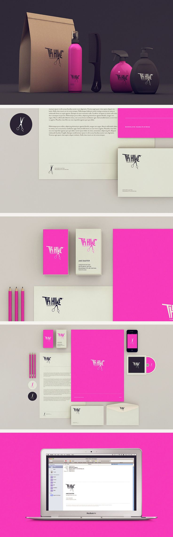 The Hive Isabela Rodrigues. Who likes fuchsia #identity #packaging #branding PD