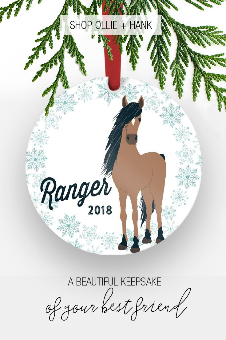 Horse Christmas Decorations | Personalized Horse Ornament in 2018 ...