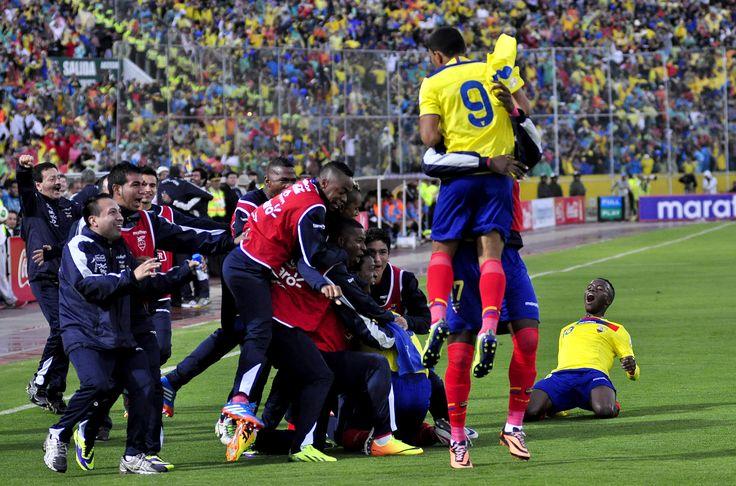La 'Tri' festejando el gol de Montero (9).
