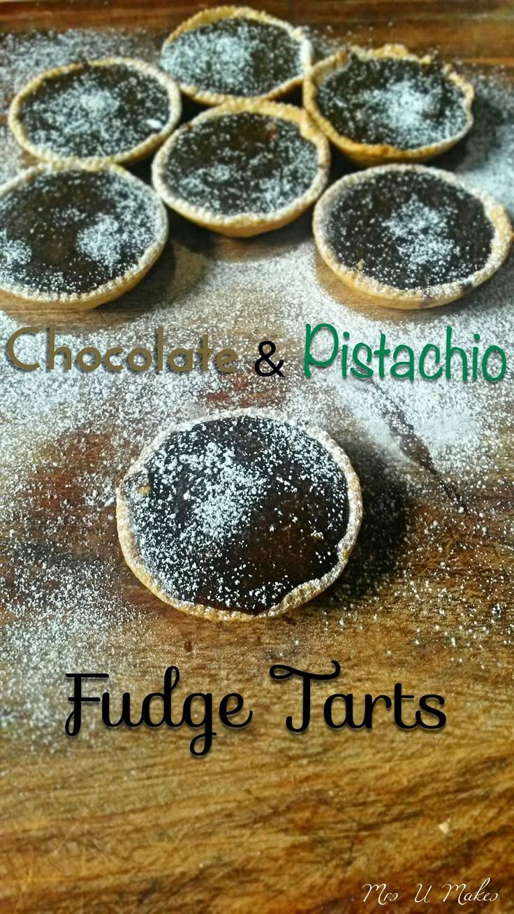 Mrs U Makes...: Chocolate and Pistachio Fudge Tarts, made with coconut milk @MrsUMakes
