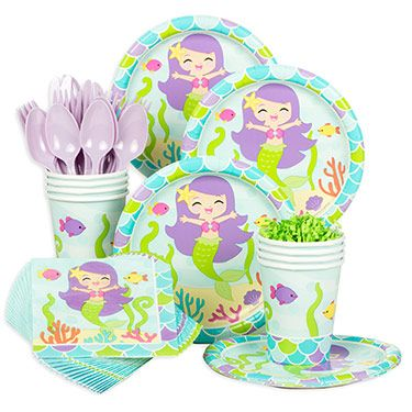Browse Mermaid Friends Birthday Standard Tableware Kit (Serves 8) and other Themed Tableware party supplies. All party occasions at wholesale prices!