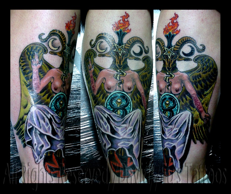 Baphomet colored baby and mommy gifts pinterest my for Kids with real tattoos