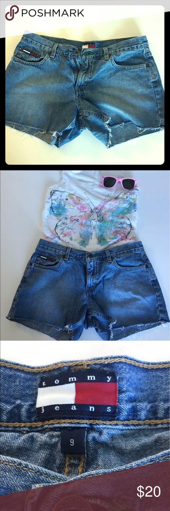 Vintage 90's Tommy Hilfiger Jean shorts Size 9 Vintage cut off Tommy Hilfiger Jean shorts, size 9. Tommy Hilfiger Shorts Jean Shorts