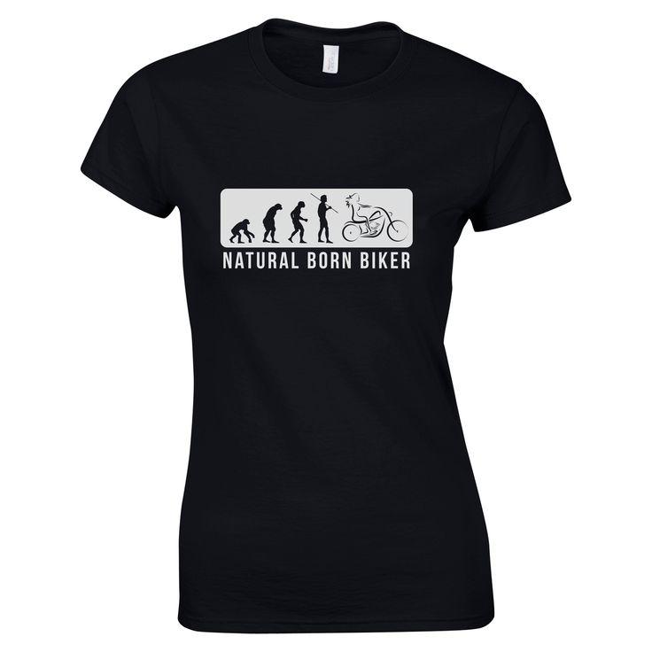 Natural Born Biker T-Shirt - LadyBiker.co.uk
