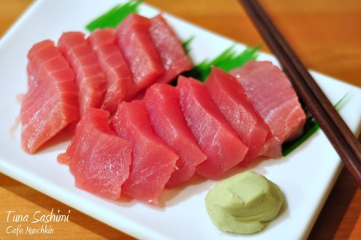 Sashimi Tuna. This classic raw fish dish from Japan can be prepared at home. Yes!