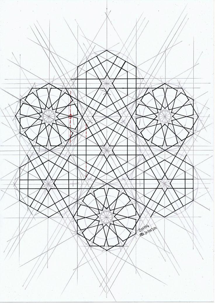 Bou114 #islamicgeometry #islamicdesign #islamicart #arabiangeometry #symmetry #geometry #pattern #handmade #star #mathart #regolo54 #Escher