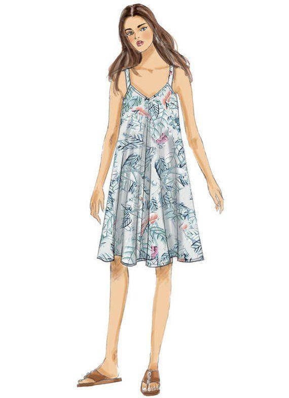 Butterick Sewing Pattern 6349 Misses/' Handkerchief Or Straight Hem Dresses