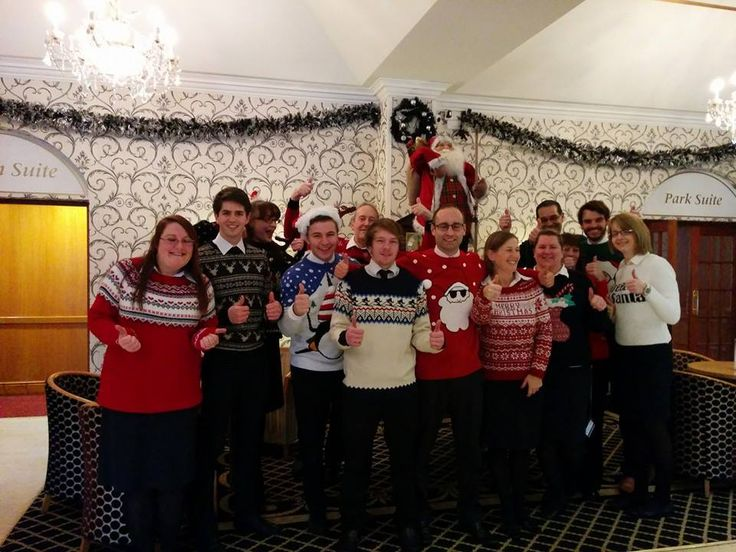 Here's the Carlton Park Team raising money for Hearing Dogs for Deaf People with our Christmas Jumper Day 2014