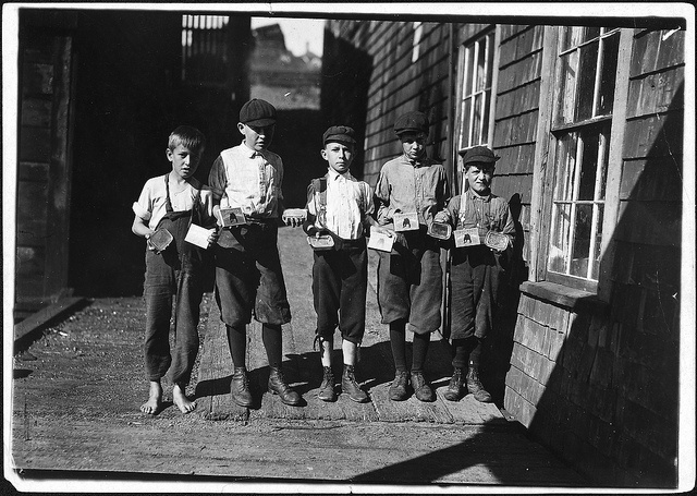 Some of the cartoners, not the youngest, at Seacoast Canning Co, August 1911   by The U.S. National Archives, via Flickr