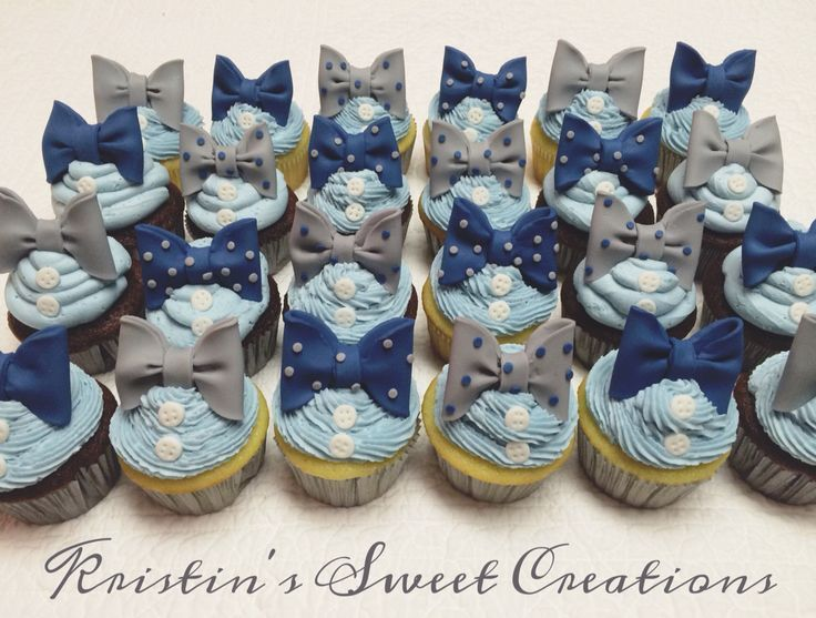 Check out Bow ties and buttons child bathe cupcakes. Would even be nice for a primary delivery...