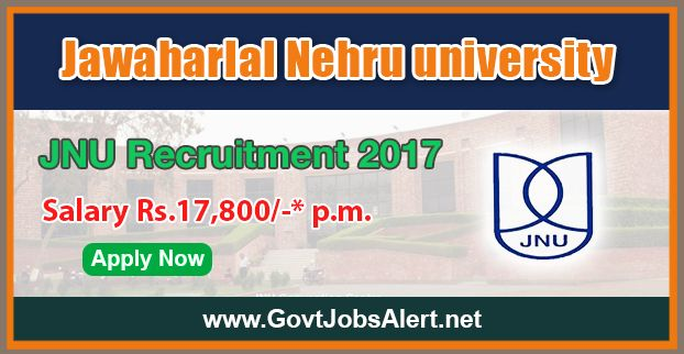 """JNU Recruitment 2017 - Hiring Project Assistant Posts, Salary Rs.17,800/- : Apply Now !!!  The Jawaharlal Nehru University –JNU Recruitment 2017 has released an official employment notification inviting interested and eligible candidates to apply for the positions of Project Assistants in DBT sponsored project entitled """"Electrochemical Microfluidic based nanobiochip for mycotoxins detection""""."""