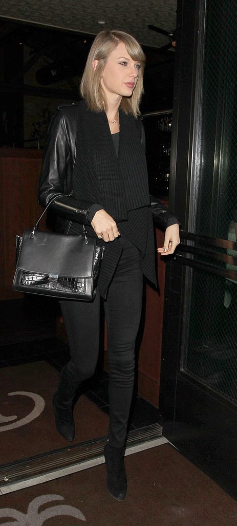 Taylor Swift wore an all-black outfit that's surprisingly edgy