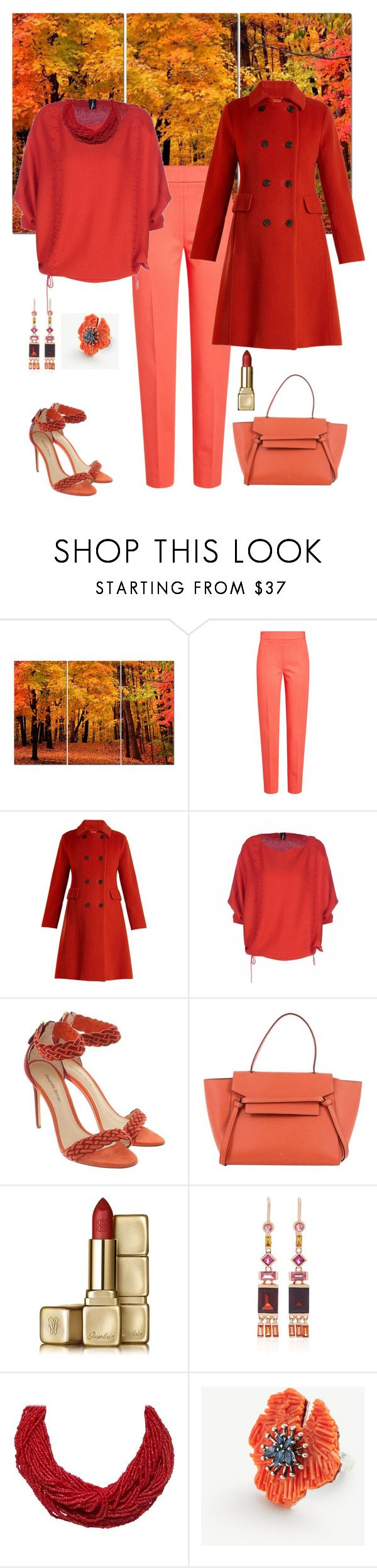 """Fall Desire🍂🍁"" by parnett ❤ liked on Polyvore featuring MaxMara, Weekend Max Mara, CÉLINE, Guerlain, Jane Taylor and Ann Taylor"