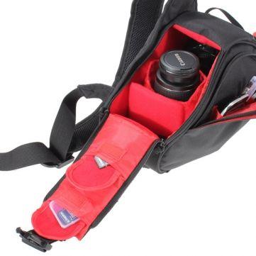 Camera Shoulder Bag Deluxe Red Interior