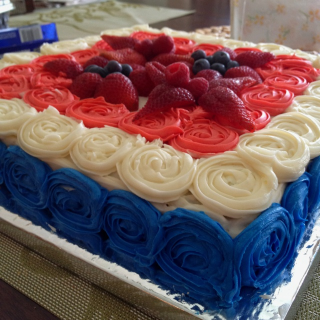 fourth of july ombre cake