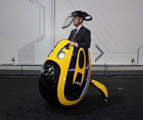 Futuristic Vehicle, Hyundai E4U, egg-shaped concept vehicle, Seoul Motor Show, South Korea