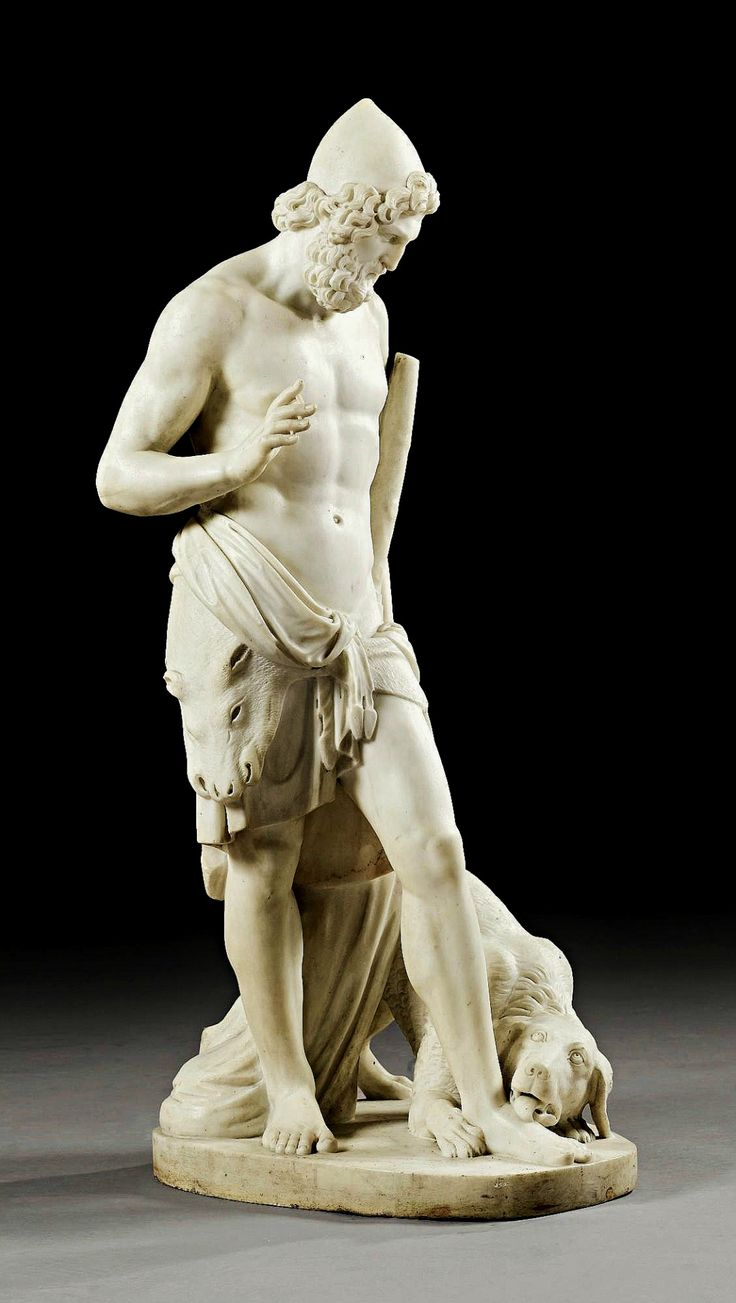 Ulysses Recognised by his Dog Argos. Jean Joseph Espercieux. French 1757-1840. marble. http://hadrian6.tumblr.com