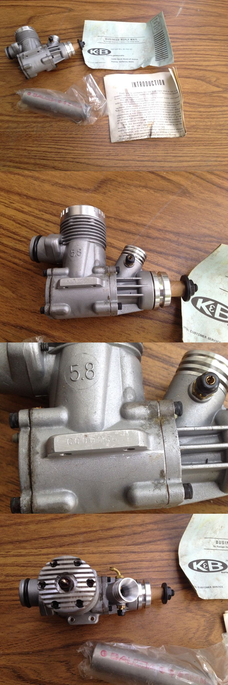 Other RC Parts and Accs 182213: Rare Vintage New Sealed K B 5.8 Cf Lee Mfg Rc Model Airplane Engine Motor #861 -> BUY IT NOW ONLY: $125 on eBay!