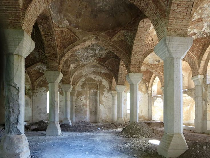 The Yukhari Govhar Agha Mosque (1883) in Shushi, Republic of Nagorno Karabakh, was used as a history museum during Soviet times. Today it awaits renovations and repurposing.