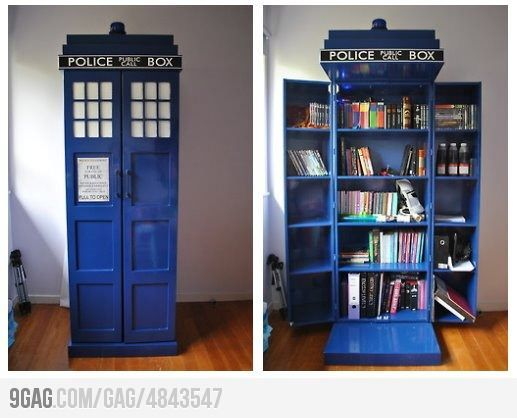 This, is wicked awesome.: Bookshelves, Idea, Tardis Bookcases, Books Shelves, Doctorwho, Doctors Who, Doctor Who, Tardis Bookshelf, Dr. Who