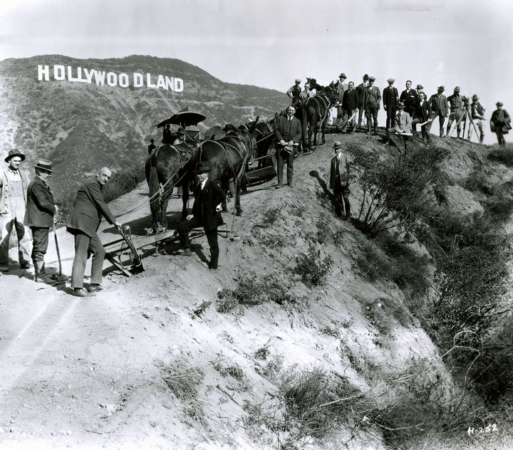 1923 Dedication Of The Hollywoodlaand Sign