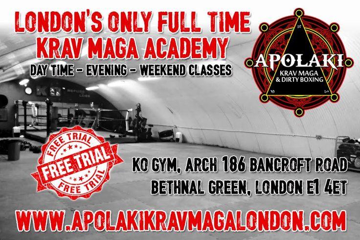 Apolaki Krav Maga & Dirty Boxing Academy, Ko Gym, 186 Bancroft Rd, London E1 4ET 020 3695 0991 apolakicombat@gmail.com [Apolaki Krav Maga & Dirty Boxing](http://www.apolakikravmagalondon.com/)