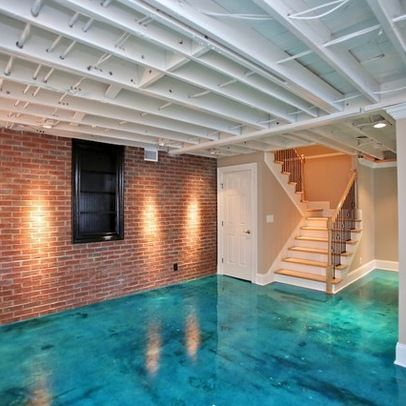 painting basement ceiling and brick veneer walls | Basement veneer Design Ideas, Pictures, Remodel and Decor
