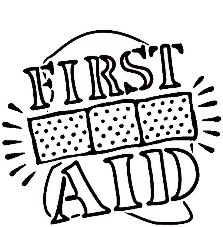 first aid coloring page girl scout badge pin